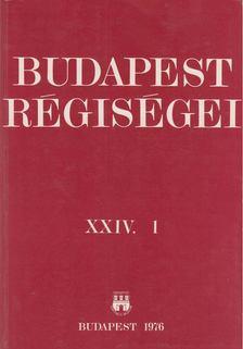 DR. HORVÁTH MIKLÓS - Budapest régiségei XXIV. 1 [antikvár]