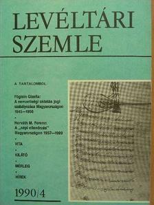 Albrechtné Kunszeri Gabriella - Levéltári Szemle 1990. január-december [antikvár]