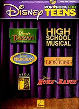 DISNEY POP AND ROCK FOR TEENS FOR VOICE, PIANO AND GUITAR WITH CD