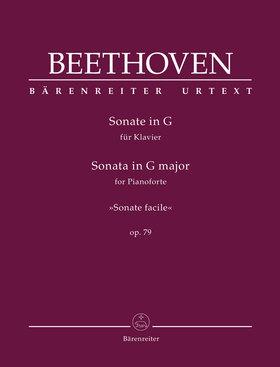 "BEETHOVEN - SONATE IN G FÜR KLAVIER ""SONATE FACILE"" OP.79 (ED. JONATHAN DEL MAR)"