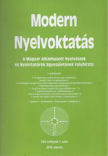 Nádor Orsolya - modern nyelvoktatás XXV. évf. 1. szám [antikvár]