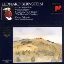 MENDELSSOHN - VIOLIN CONCERTO - SYMPHONY NO.4 - CD BERNSTEIN