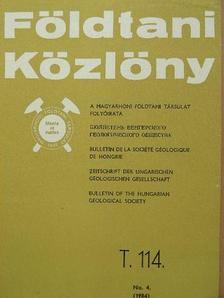 Bérczi István - Földtani Közlöny 1984/4. [antikvár]