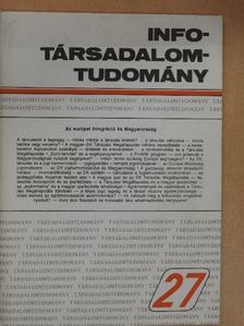 Balázs Péter - Info-Társadalomtudomány 1993. december [antikvár]