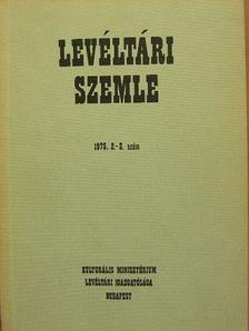 Bálint Ferenc - Levéltári Szemle 1975. május-december [antikvár]