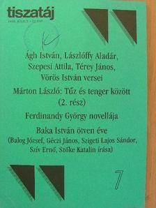 Ágh István - Tiszatáj 1998. július [antikvár]