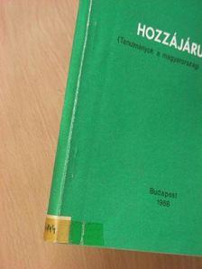 Árpási Zoltán - Hozzájárulás [antikvár]