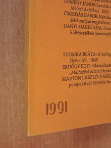 Balassa Péter - Jelenkor 1991. december [antikvár]