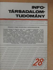 Andorka Rudolf - Info-Társadalomtudomány 1994. április [antikvár]