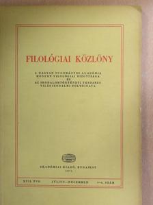 Biernaczky Szilárd - Filológiai közlöny 1971. július-december [antikvár]
