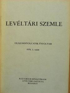 Ambrus Béla - Levéltári Szemle 1978. szeptember-december [antikvár]