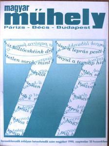 Bakucz József - Magyar Műhely 1990. szeptember [antikvár]