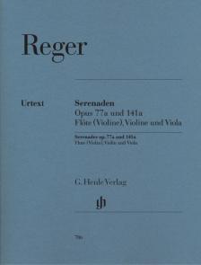 REGER - SERENADEN OP.77a UND 141a FÜR FLÖTE (VIOLINE), VIOLINE UND VIOLA, STIMMEN URTEXT (M. KUBE)