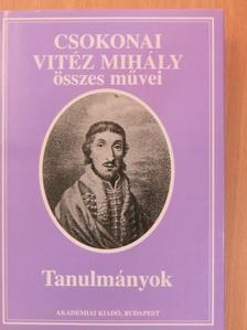 Borbély Szilárd - Csokonai Vitéz Mihály - Tanulmányok [antikvár]