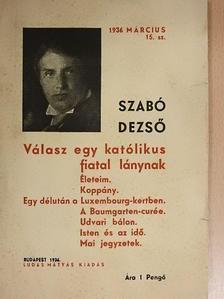 Szabó Dezső - Válasz egy katólikus fiatal lánynak [antikvár]