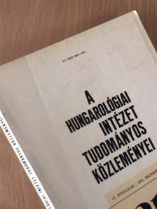 Bányai János - A Hungarológiai Intézet tudományos közleményei 1974. december [antikvár]