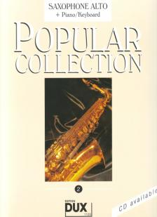 POPULAR COLLECTION 2 FOR SAXOPHONE ALTO + PIANO/KEYBOARD