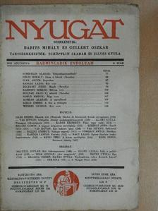 Balassa József - Nyugat 1937. augusztus [antikvár]