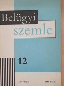 Bodnár Zsolt - Belügyi Szemle 1987. december [antikvár]