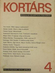 Ágh István - Kortárs 1975. április [antikvár]