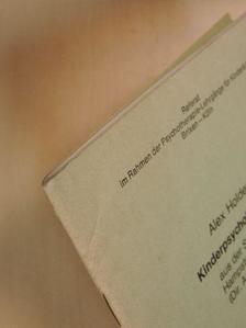 Alex Holder - Kinderpsychotherapie aus der Sicht der Hampstead-Klinik (Dir. Anna Freud) [antikvár]