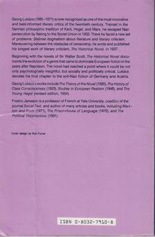 Georg Lukács - The Historical Novel [antikvár]