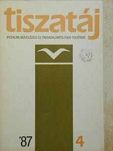 Apró Ferenc - Tiszatáj 1987. április [antikvár]