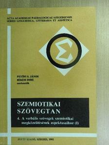 Albert Sándor - Szemiotikai szövegtan IV. [antikvár]