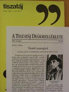 Aczél Géza - Tiszatáj 1996. december [antikvár]