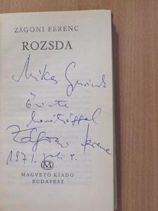 Zágoni Ferenc - Rozsda (dedikált példány) [antikvár]