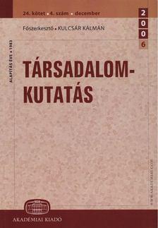 Kulcsár Kálmán - Társadalomkutatás 24.kötet 4. szám [antikvár]