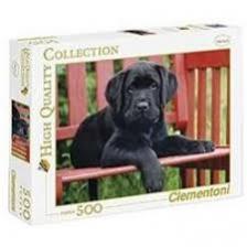 Clementoni Puzzle 500 Fekete kutya