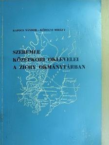 Kapocs Nándor - Szeremle középkori oklevelei a Zichy okmánytárban [antikvár]