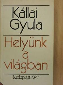 Kállai Gyula - Helyünk a világban [antikvár]