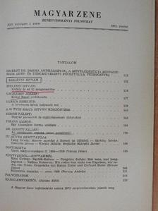 Dr. Szigeti Kilián - Magyar Zene 1972/2. [antikvár]