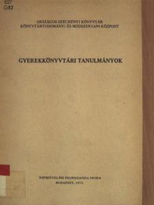 Dr. Kiss Györgyné - Gyerekkönyvtári tanulmányok [antikvár]
