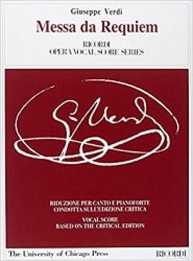 Verdi - MESSA DA REQUIEM PER CANTO E PIANOFORTE (CRITICAL EDITION)