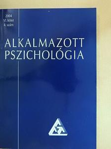 Poór József - Alkalmazott pszichológia 2004/4. [antikvár]