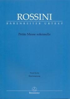 ROSSINI - PETITE MESSE SOLENNELLE VOCAL SCORE URTEXT (BRAUNER / GOSSETT / KÖHS)