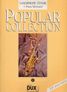 POPULAR COLLECTION 5 FOR SAXOPHONE TENOR + PIANO/KEYBOARD