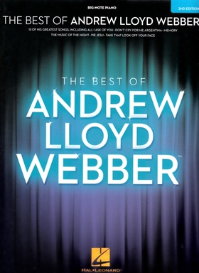 WEBBER, - ANDREW LLOYD WEBBER, THE BEST OF. BIG-NOTE PIANO