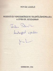 Novák László - Mozsgó és vonzáskörzete településnéprajza a XVIII-XX. században (dedikált) [antikvár]