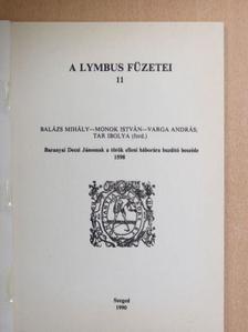 Balázs Mihály - Baranyai Decsi Jánosnak a török elleni háborúra buzdító beszéde 1598-ból [antikvár]