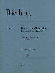 RIDEING - KONZERT h-MOLL OP.35 FÜR VIOLINE UND KLAVIER