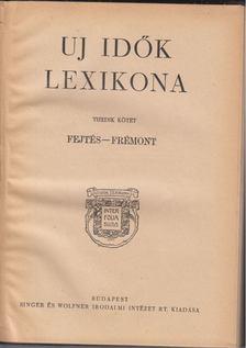 Herczeg Ferenc - Uj idők lexikona X. kötet [antikvár]
