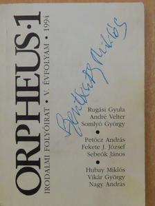 André Velter - Orpheus 1994/1. [antikvár]
