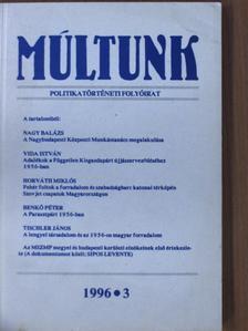 Benkő Péter - Múltunk 1996/3. [antikvár]