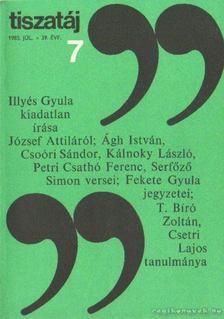 Vörös László - Tiszatáj 1985. július 39. évf. 7. [antikvár]
