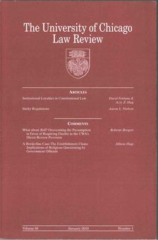 The University of Chicago Law Review Vol. 85 No. 1 [antikvár]