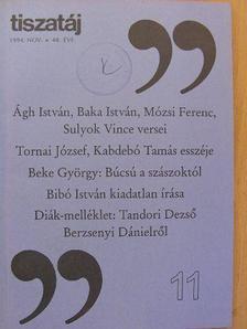 Ágh István - Tiszatáj 1994. november [antikvár]